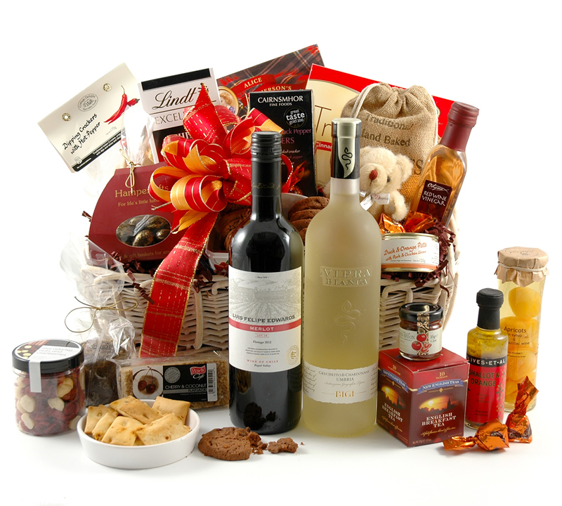 Gourmet treats wine hamper to be won