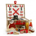 Luxury picnic hamper for two