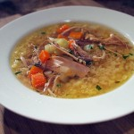 Delicious chicken noodle soup is a real winter warmer