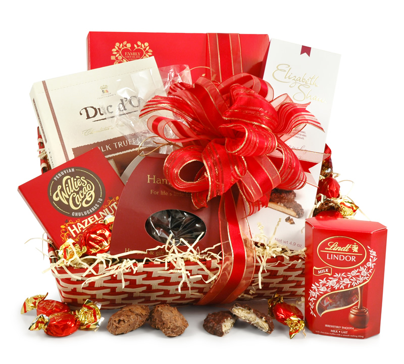 Chocolate lovers basket christmas gift hampers Christmas gift ideas for cooking lovers