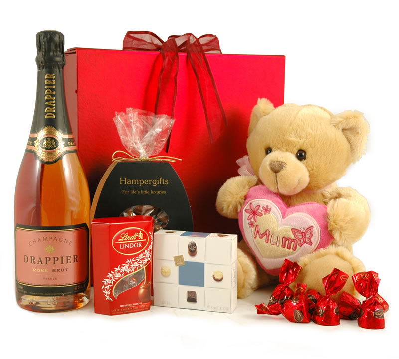 Love You Mum Teddy + Champagne Hamper