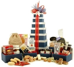 Gift Towers - Hampers & Gift Baskets from Hampergifts.co.uk - Great British Hamper Tower