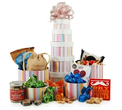 Gift Towers - Hampers & Gift Baskets from Hampergifts.co.uk - Sweet & Savoury Tower