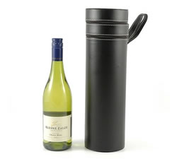 Wine Gift Boxes: from Hampergifts.co.uk - White Wine In Faux Leather Case