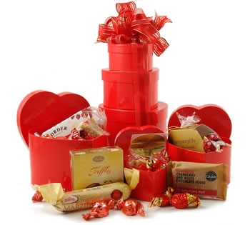 Valentines Hampers | Valentines Gift Basket - The Sweethearts Tower