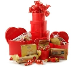 Gift Towers - Hampers & Gift Baskets from Hampergifts.co.uk - Hearts & Chocs