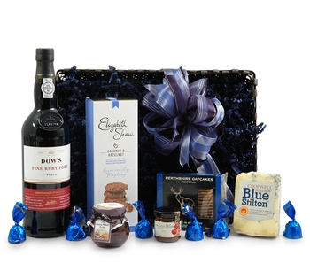 Cheese Hampers | Cheese Gifts | Cheese & Wine Hampers - Luxury Port & Stilton Hamper