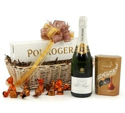 Gifts For Her: Hampers & Gift Baskets from Hampergifts.co.uk - Pol Roger Champagne Hamper