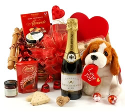 Champagne Hampers & Baskets: from Hampergifts.co.uk - Cuddles & Bubbles