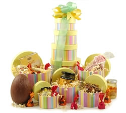 Striped Easter Food Tower