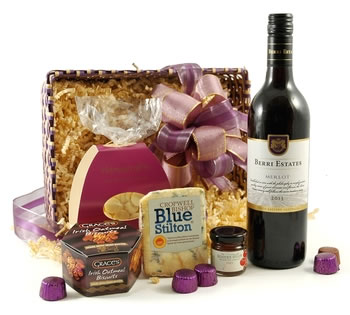 Cheese Hampers | Cheese Gifts | Cheese & Wine Hampers - Stilton Surprise