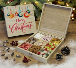 Merry Christmas Wooden Sweet Box
