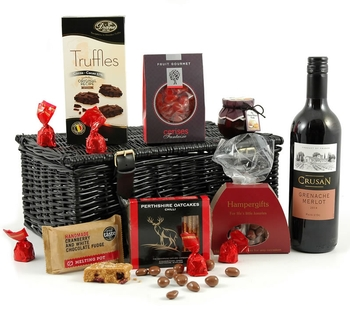 Valentines Hampers | Valentines Gift Basket - Red Wine Delight