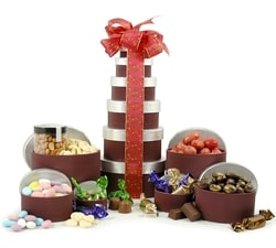 Gift Towers - Hampers & Gift Baskets from Hampergifts.co.uk - Chocolate & Nut Delight