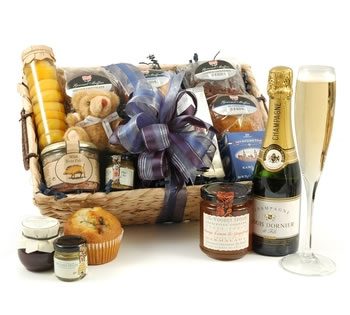 Muffins & Cookies | Muffin Hampers | Muffin Gifts - Champagne Breakfast Hamper
