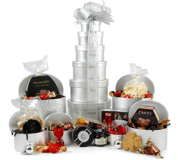 Christmas Hampers | Xmas Hampers | Christmas Gift Ideas - Silver Christmas Tower