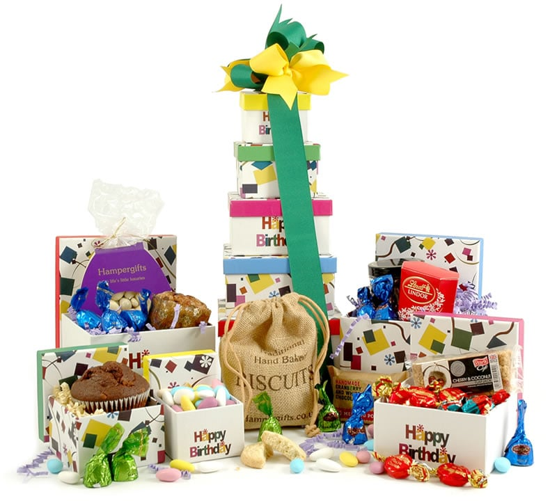 Birthday hampers gift baskets luxury birthday gifts happy birthday gift tower negle Gallery