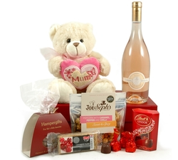Pip Mum Teddy + Rose Wine Hamper