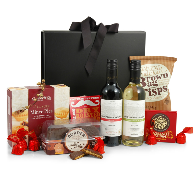 The Christmas Parcel | Red & White Wine Gift Box