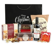 Merry Christmas Gift Bag with Red Wine