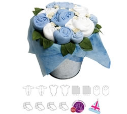 Flower Pail Blue