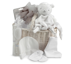 Newborn Gift Basket - Pure White