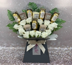 Yankee Candle and Rose Bouquet + Ferrero Rocher