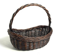 High Handle Wicker Basket