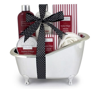 Valentines Hampers | Valentines Gift Basket - Parisian Whisper Bath Tub