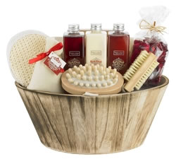 Gifts For Her: Hampers & Gift Baskets from Hampergifts.co.uk - Rich Plum Oval Bowl