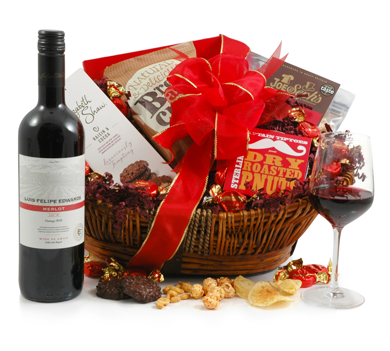 Wedding Gift Baskets Uk : Ruby Red Wine Hamper - Buy Online for ?37.99